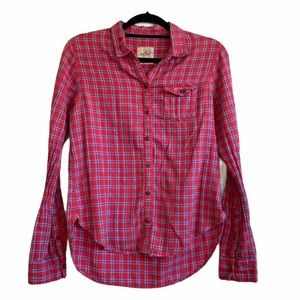 Hollister Red Plaid Button Up - Small